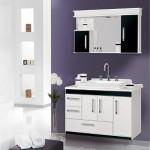 Czerń i biel w łazience