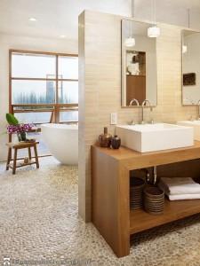 aranżacje łazienki - mozaika